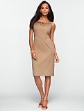 Beaded Bateau Sateen Dress