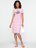 Angelfish & Stripe Tee Dress