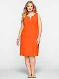 Notched-Scoopneck Dress