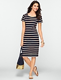 Fancy Stripe T-Shirt Dress