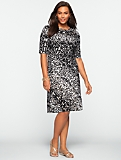 Abstract Animal Print Ruched Side-Tie Dress