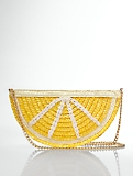 Lemon Slice Straw Clutch