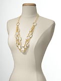 Mother-of-Pearl Bib Necklace