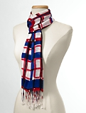 Painted Plaid Scarf