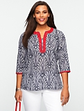 Beaded Palm-Paisley Tunic