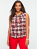 Painted Houndstooth Top
