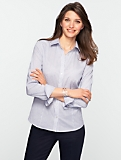 Wrinkle Resistant Diamond-Stripe Shirt