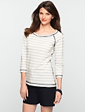 Reversible Stripe Terry Tee