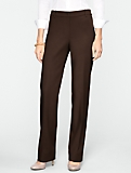 Curvy Ultimate Double-Weave Straight-Leg Pants