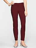 Curvy Ultimate Double-Weave Tailored Ankle Pants