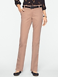 Signature Peached Broken-Twill Straight-Leg Pants