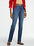 Slimming Curvy Dusk-Wash Straight-Leg Jeans