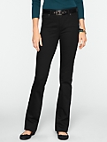 Slimming Heritage Black Straight-Leg Jeans