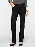 Slimming Signature Black Straight-Leg Jeans