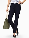 Slimming Heritage Midnight Wash Side-Entry Ankle Jeans