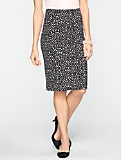 Animal Spaced Dots Pencil Skirt