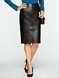 Leather & Ponte Pencil Skirt