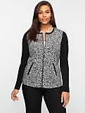 Animal Jacquard Zip-Front Jacket