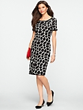 Giraffe Jacquard Sweater Dress