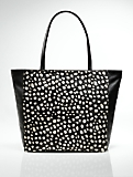 Large Leather & Haircalf Tote
