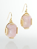 Faceted Geo-Cabochon Drop Earrings
