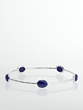 Sterling Silver Lapis Cabochon Bangle