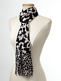 Mixed-Animal Print Scarf