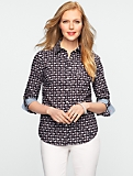 Swan-Print Cotton Shirt