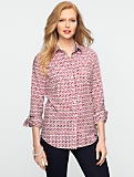 Apple Print Classic Cotton Shirt