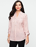 Dot Print Nantucket Shirt