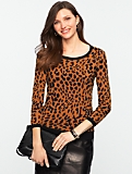 Cheetah-Jacquard Sweater