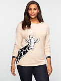 Talbots Comfy Giraffe Front & Back Sweater
