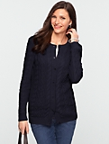 Talbots Comfy Cable Cardigan