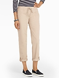 Cotton Poplin Ankle Pants