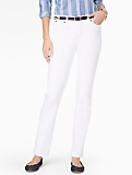 Slimming Heritage White Straight-Leg Jeans