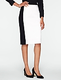Ponte Colorblocked Pencil Skirt