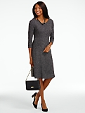 Speckled Boucl� Fit-and-Flare Dress