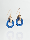 Circle-Link Drop Earrings