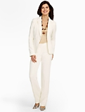 Seasonless Crepe Ivory Single-Button Jacket
