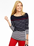 Merino Mixed-Stripes Sweater