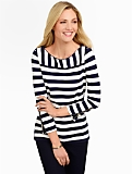 Mixed-Stripe Top