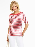 Stretch Weekend Jackie Stripes Bateau Tee