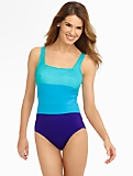 Colorblocked Square-Neck Miraclesuit� By Swim Shaper�
