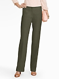 Signature Refined-Linen Wide-Leg Pants