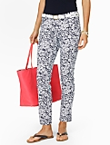 Slimming Signature Daisy-Print Ankle Pants
