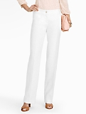 Signature Refined-Linen White Wide-Leg Pants