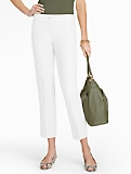 Heritage Refined-Linen White Straight-Leg Crops