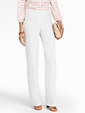 Curvy Refined-Linen White Wide-Leg Pants