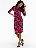 Floral-Silhouette Shirtdress