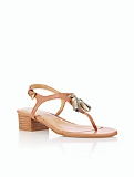 Peyton Leather Tassel Thong Sandals